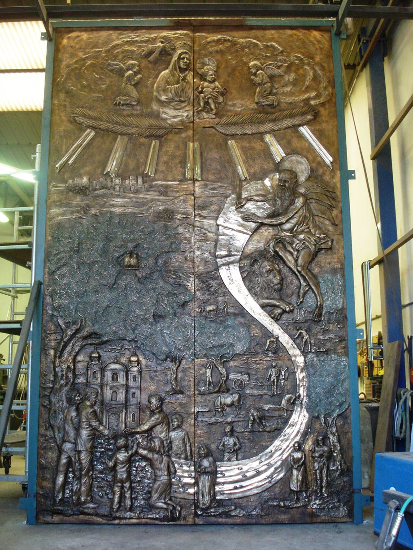 Arte Sacra Portale bronzeo Chiesa Matrice di Cittanova