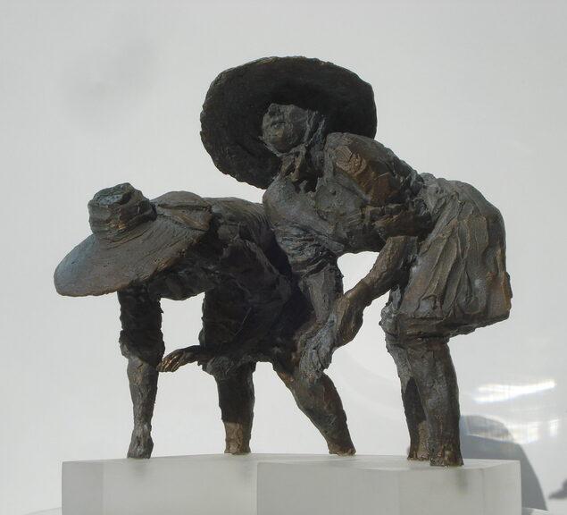 Miniatura Mondine al lavoro in bronzo