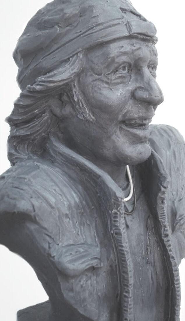 Ritratto scultoreo di Vasco Rossi