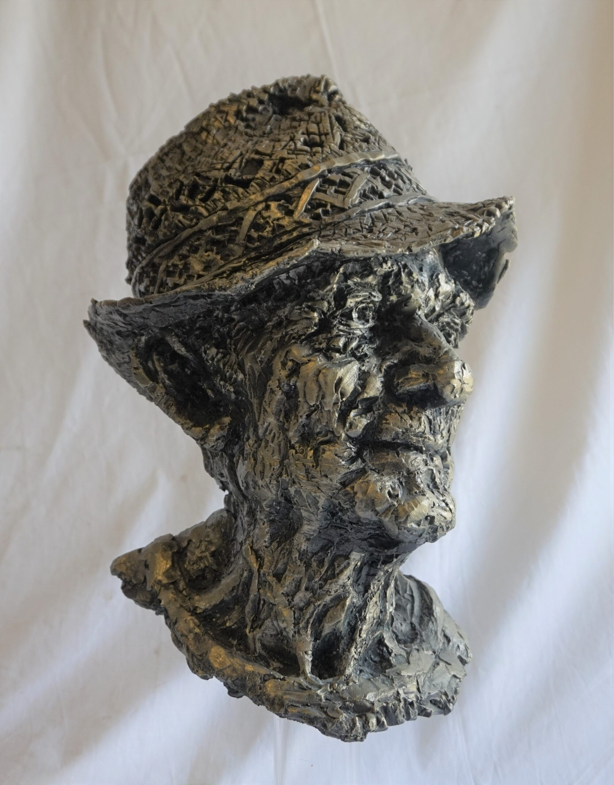Scultura in bronzo – Testa di contadino